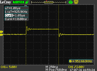 Issue with the execution time of NOP instruction [STM32F746G