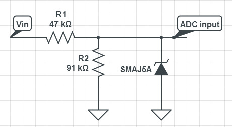 STM32 ADC protection diode
