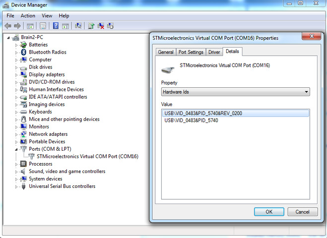 Virtual COM port driver 1 4 0 doesn't work with CDC examples