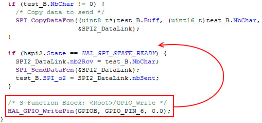 STM32-MAT Simulink spi example compilation and chip select problems