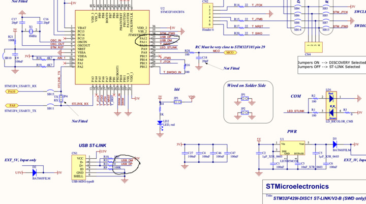 Possible bug in STM32F429ZIT6 Discovery1 board user manual? on