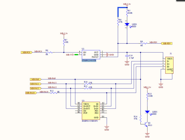 USB OTG FS in stm32f4 not detected by PC Otg Cable Schematic on