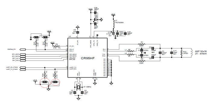 Help with schematic capture portion of CR95HF design...