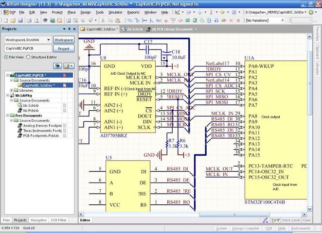 Clock for AD7705BRZ from Microcontroller (STM32F100C4)